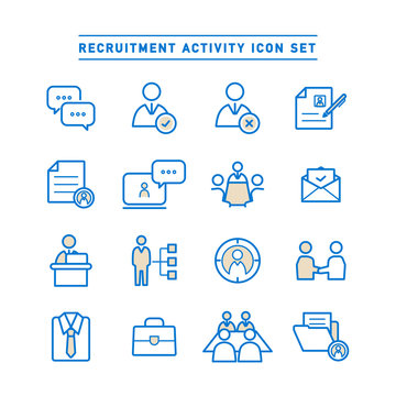 RECRUITMENT ACTIVITY ICON SET