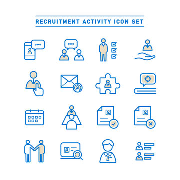 RECRUITMENT ACTIVITY ICON SET