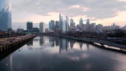Wall Mural - Philadelphia Skyline video clip in 4k