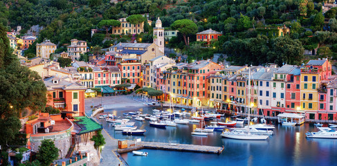 Photo sur Aluminium Ligurie Panorama of Portofino town, Liguria, Italy