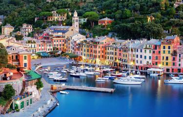 Portofino town center and harbor, Genoa, Italy