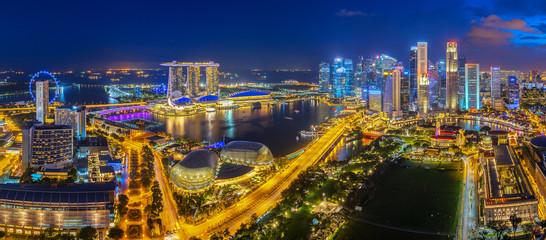 Photo sur Plexiglas Singapoure Singapore skyline