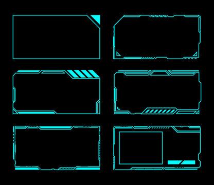 Frame set technology future interface hud .