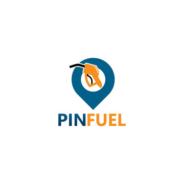 Pin Fuel Logo Template Design