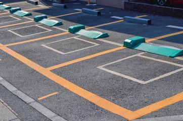 駐車場 Fotobehang