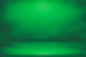 St Patrick's day background green gradient bokeh lights defocused for design
