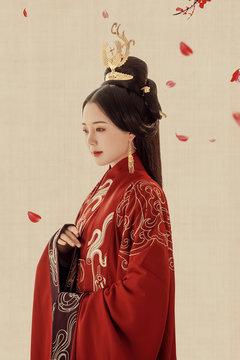 Asian ancient concubine shaped woman