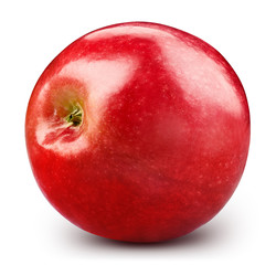 Red apple, isolated on white background. Apple fruit clipping path.