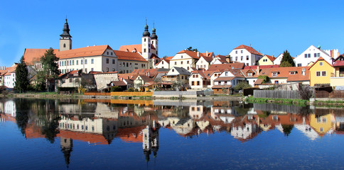 Beautiful view of Telc city, South Bohemia