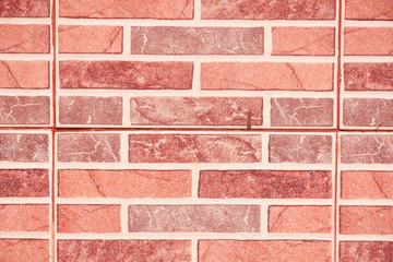 Beautiful color block brick wall wallpaper