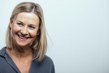 Smiling, confident senior woman