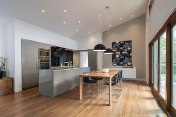 Home showcase open plan kitchen and dining room Fotobehang
