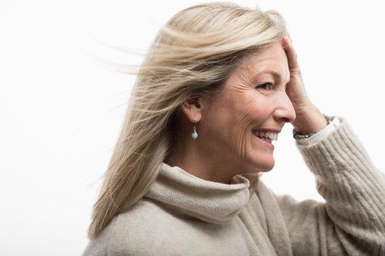 Happy, confident carefree mature woman