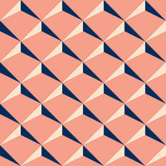 Decorative pattern for the background, tile and textiles. It is assembled from modular parts. Vector. Seamless.