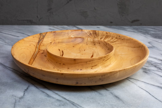 Wormy Maple wood serving bowl