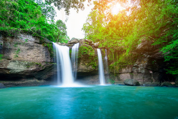 Aluminium Prints Forest river Haew Suwat Waterfall at Khao Yai National Park, Thailand