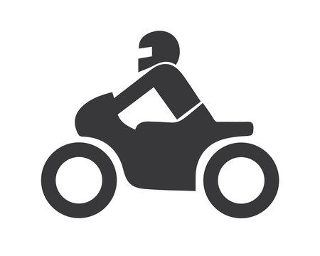 Motorrad icon vector illustration - Symbol