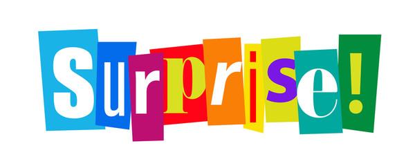 Surprise on cut'out letters