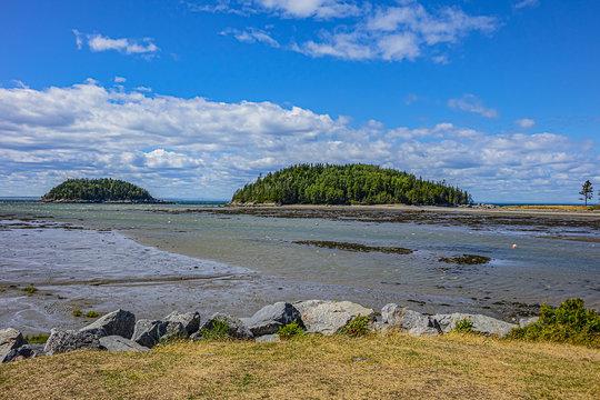 View of the picturesque Bic Park (Parc national du Bic). Parc national du Bic is located in the Bas-Saint-Laurent tourism region near Rimouski. Quebec Province, Canada.