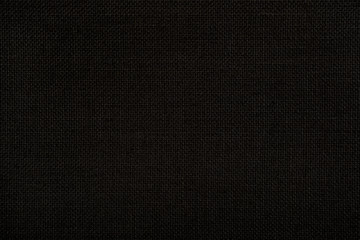 Close-up texture of natural weave cloth in dark and black color. Fabric texture of natural cotton...
