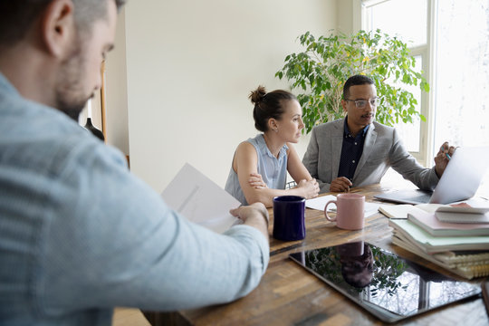 Financial planner meeting with couple