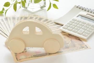 自動車 紙幣 電卓