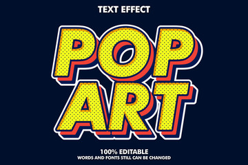 Spoed Fotobehang Pop Art Strong bold retro pop art text effect