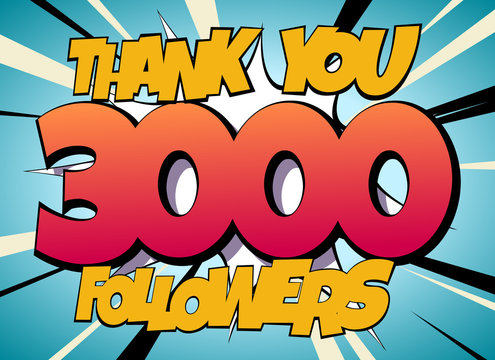 Thank You 3000 followers Comics Banner