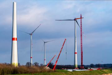 Windkraftrad Bau