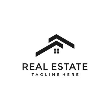 simple home, house, real estate luxury logo design vector