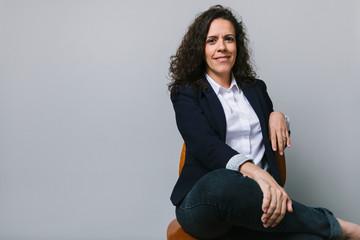 Portrait smiling, confident businesswoman