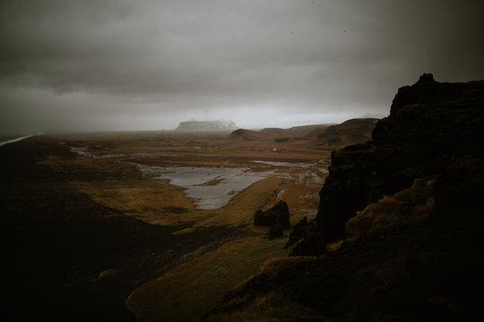 moody mountain landscape