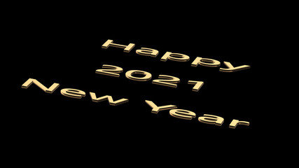 3d rendering of 2021 Happy New Year