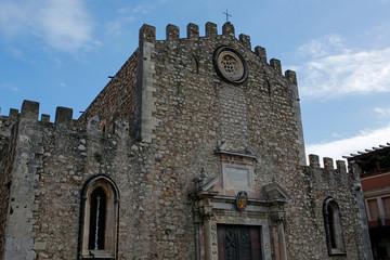 The Cathedral of Taormina ( Duomo de Taormina), Sicily, Italy
