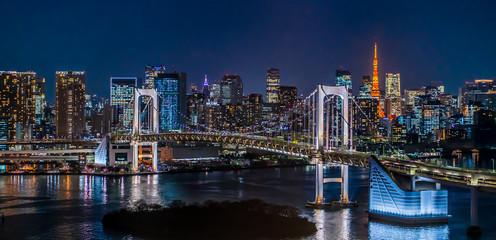Photo sur Aluminium Tokyo 東京 台場 レインボーブリッジ 夜景 ~Tokyo Daiba Night View~