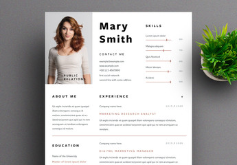 Resume Layout with Brown Accents