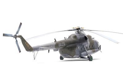 Poster Helicopter helicopter isolated on white background