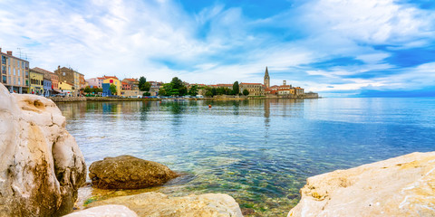 View to the city of Porec on a beautiful summer day, Croatia