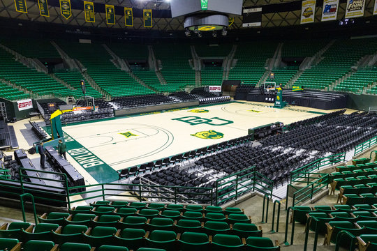 Baylor Basketball court in the Ferrell Center on the Campus of Baylor University