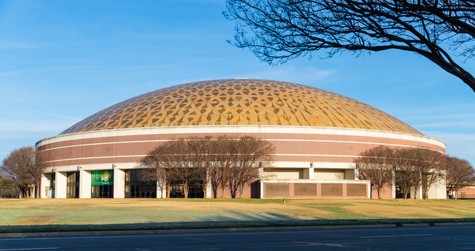 Waco, TX / USA - January 12, 2020: Ferrell Center on the Campus of Baylor University