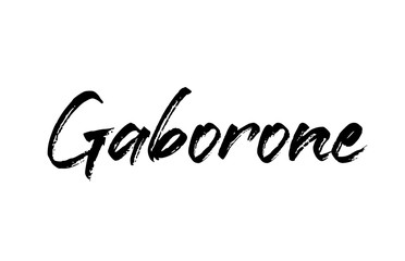 capital Gaborone typography word hand written modern calligraphy text lettering