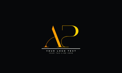 Obraz AP ,PA ,P ,A Letter Logo Design with Creative Modern Trendy Typography - fototapety do salonu