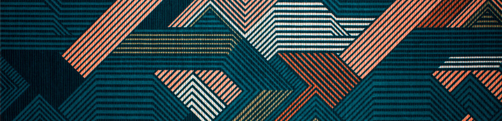 Aluminium Prints Fabric Fabric texture with abstract lines.Fabric background with multi-colored lines.Abstract background.