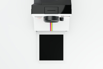 Classic Instant Camera with Blank Film CGI