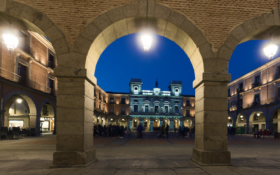 Town Hall Square of Avila.