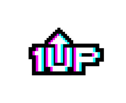 Creative design of 1Up icon