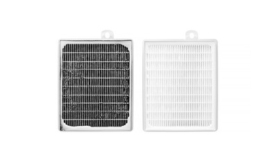 High efficiency air filter for HVAC system. new and used filter. Taking care of human health. fight against allergies and dangerous particles. Protection from coronavirus