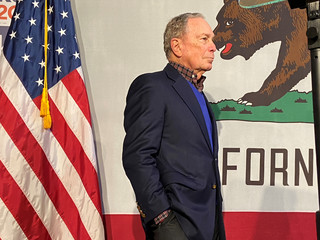 Democratic U.S. presidential candidate Michael Bloomberg attends a campaign event in Oakland