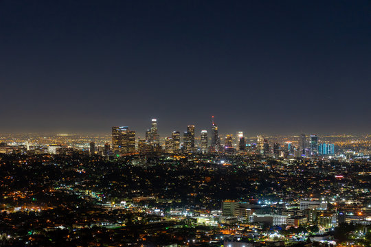 Night skyline of Los Angeles viewed from the Griffith Observatory