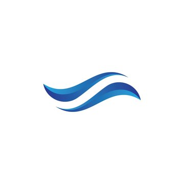 Water wave logo template vector icon design